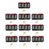 B Blesiya 10 Pieces 0.54inch Red 4Bits Digital Tube LED Display Module I2C for Arduino