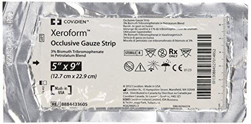 Occlusive Wound Dressing - DSS Xeroform Occlusive Petrolatum Gauze Strip, 5