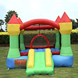 New Inflatable Mighty Bounce House Castle Jumper Moonwalk Bouncer Without Blower
