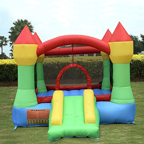 New Inflatable Mighty Bounce House Castle Jumper Moonwalk Bouncer Without (Helium Machine Rental)