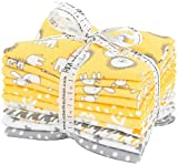 Penned Pals Flannel Fat Quarter Bundle Yellow Colorstory Robert Kaufman