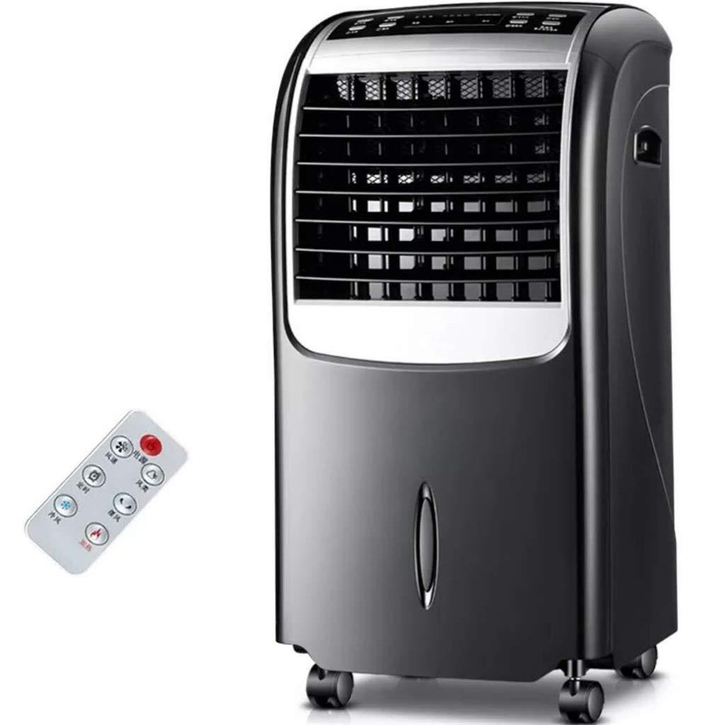 Acquisto Fresco e Caldo Ventilatore del climatizzatore Doppio utilizzo Refrigerazione 80W Riscaldamento Riscaldatore 2000W Silenziamento 3 File Telecomando a Tempo 12 Ore Raffreddatore d'Aria (Colore : Nero) Prezzi offerte