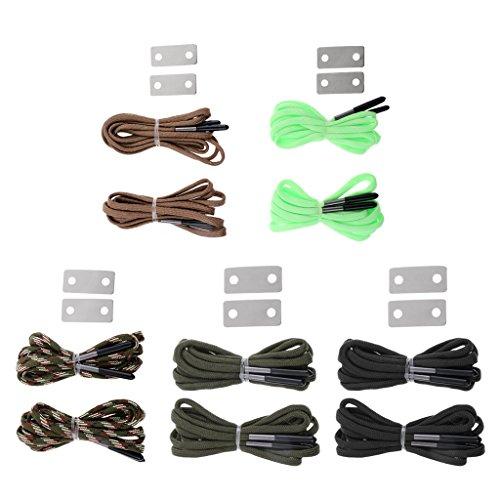 Marrón Cordones Cordón MagiDeal Aire de Deportes Afilar Zapatos Accesorios de Interior Piedra Verde Libre de con gq4wq