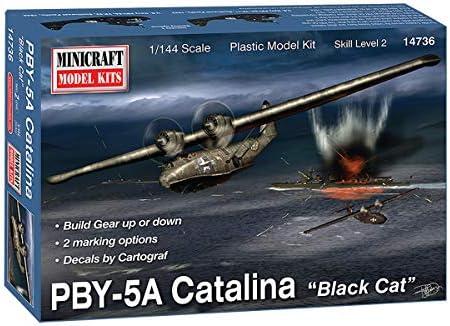 ミニクラフト 1/144 アメリカ海軍 飛行艇 PBY-5A カタリナ ブラックキャット プラモデル MC14736