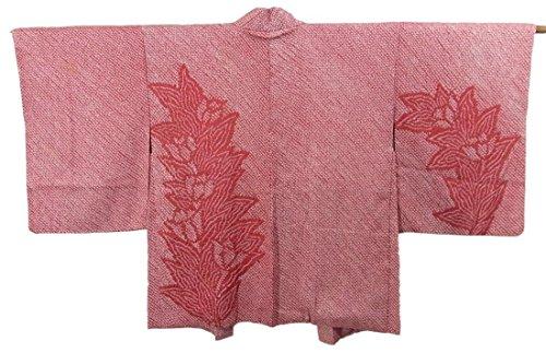 リサイクル 羽織 絞り 正絹 花模様 裄63.5cm 身丈76cm