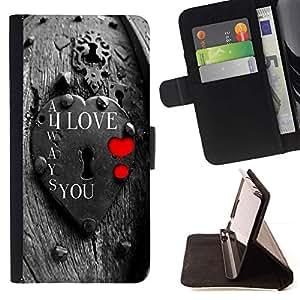 For Samsung Galaxy J3(2016) J320F J320P J320M J320Y Case , Te Amo Lock- la tarjeta de Crédito Slots PU Funda de cuero Monedero caso cubierta de piel