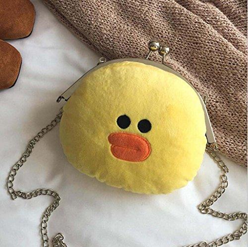 animal couleur Handbag coréenne épaule verrou du une Solide Jaune Hztdda sauvage Plush à jaune Mode Version tqY0fn5Rx