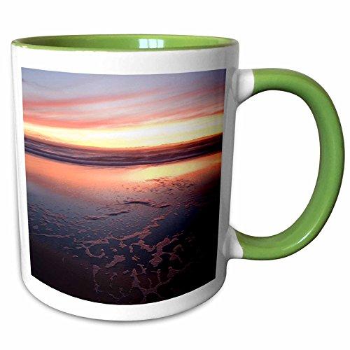 3dRose Danita Delimont - Beaches - California, San Francisco, Golden Gate NRA beach - US05 IHO0166 - Inger Hogstrom - 11oz Two-Tone Green Mug - San Francisco Area Outlets Bay