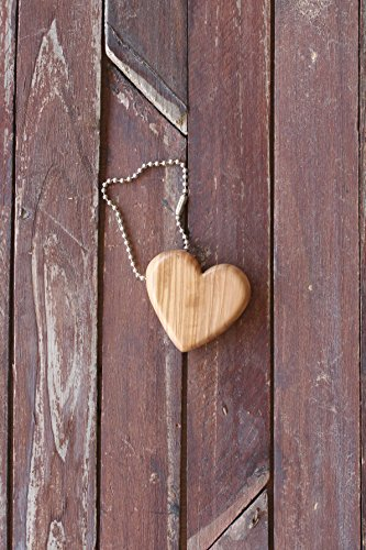From The Earth - Olive Wood Heart Keychain - Fair Trade & Handmade