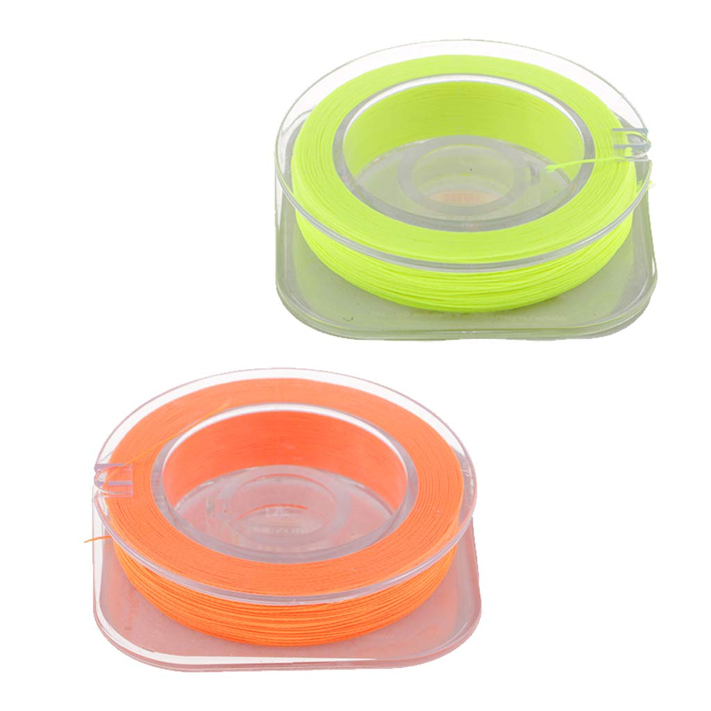 2pcs Rod Building Wrapping Thread Guide Ring Wrapping Line Orange,Yellow