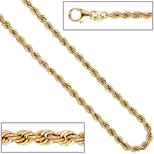 Old kordelarmband 3,2 mm, bracelet en or jaune 585 18,5 cm