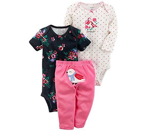 Carter's Baby Girls' 3 Piece Daddy's Girl Bird Little Character Set 24 Months