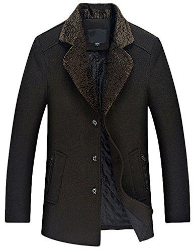 - Youhan Men's Wool Blend Blazer Jacket Winter Business Coat (X-Small, Army Green)