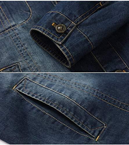 Classico Taglie E Hx Abiti Gli Ntel Fashion Spessa Inverno Blau Comode Cashmere Uomini Autunno Jeans Caldo Finto Fodera Stagionale Giacche Stare In Più Uomo Di rvXwqtgxv