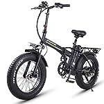 XXCY Bici Elettrica, Bici Elettrica Pieghevole per Pendolari Urbani, velocità Massima 40 Km/H, 20 Pollici Leggera…