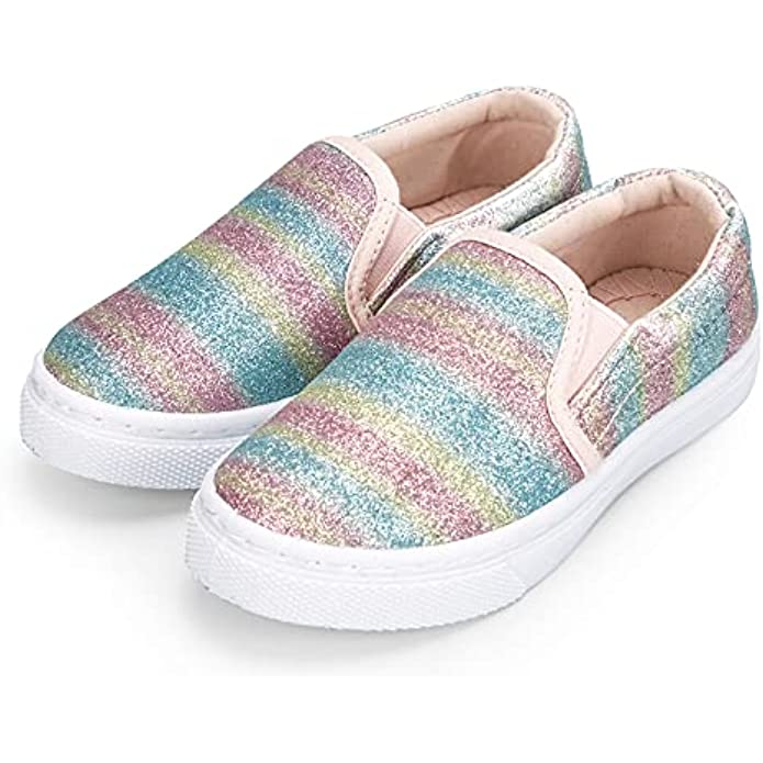 K KomForme Toddler Casual Sneakers Slip-on Canvas Shoes for Boys & Girls