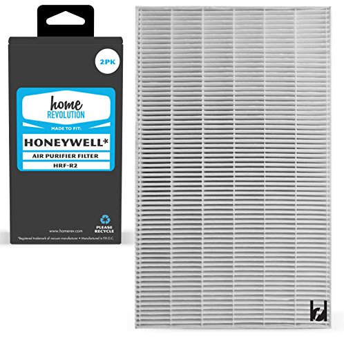 Home Revolution 2 Replacement HEPA Filters, Fits Honeywell HRF-R2 & HPA-090, HPA-100, HPA200 and HPA300 Series Air Purifier Models by Home Revolution