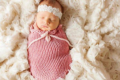 Newborn Baby Sleeping Bag Photography Photo Prop Wrap Baby (Pink)