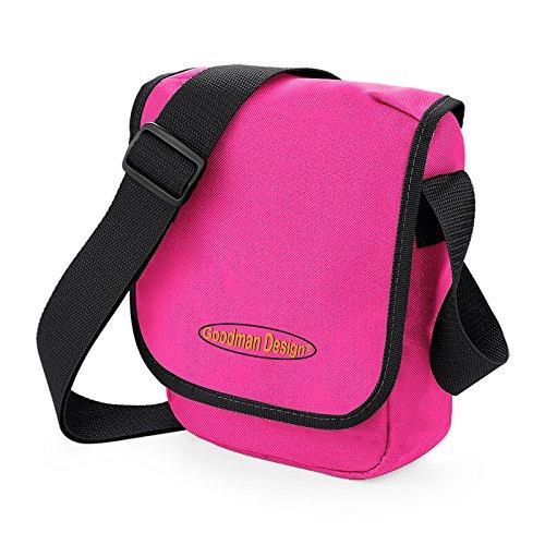 Kleine Kameratasche, Reisetasche, Kindertasche in pink - mit Goodman Design Logo, für Reisen, Schule, oder Freizeit