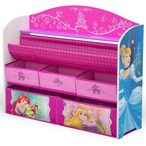 Princess Toy Chest - Delta Children Deluxe Book & Toy Organizer, Disney Princess