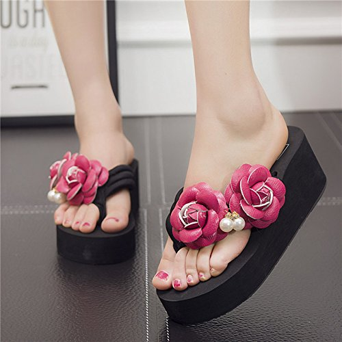 Forty and High Thick Sandals Black Heels Bottom Ladies' myldy Sandals w1RIq8R
