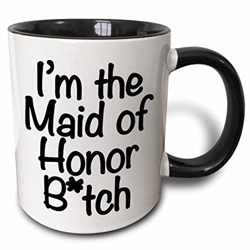 3dRose mug 178115 4 Honor Black White