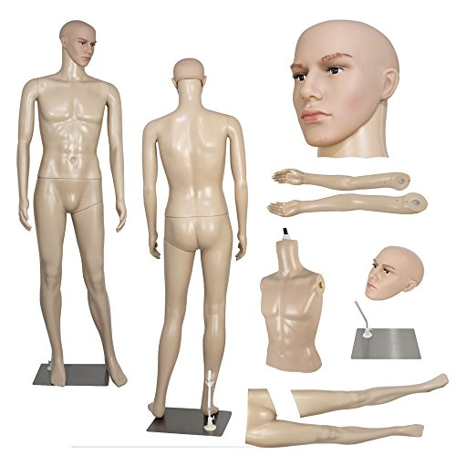 male-mannequin-plastic-realistic-display-head-turns-dress-form-w-base-724-6ft