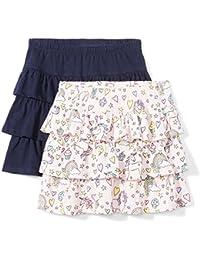 Girls' 2-Pack Knit Ruffle Scooter Skirts
