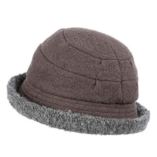 Cacao ash Women's Hat Curling Temperament Hat Woman Autumn and Winter Warm and Leisure Hat