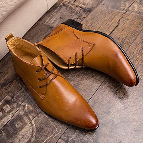 38 Hommes Bottes De Bout Cheville Britannique Nouvelles Tendance Taille color boots Et La À Décontracté 2018 Marron Pointu Eu Pour Style Noir Dundun Venir Pvpqw1xx