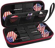 ALKOO Dart Case Holder Bag for 6 pcs Steel and Soft Tip Darts Set, Storage Organizer Holds 6 Darts and Tips, S
