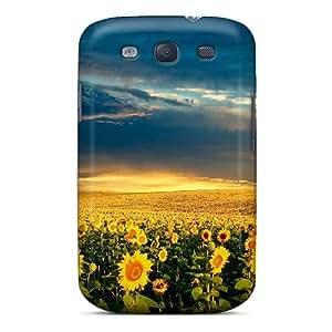High Quality AtfwL1750norZE Sunflower Fields Tpu Case For Galaxy S3