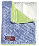 Creature Commforts Weighted Lap Pad 3lbs- For kids, adults - Removable cover, soft minky duvet, organic insert - Heavy sensory lap pad made in USA - teal blue or jade green