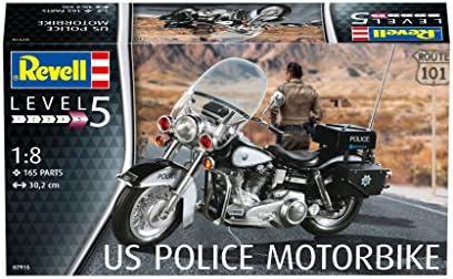 Revell 80 7915 30 2cm Spielzeug Modellbausatz Motorrad Us Police Motorbike Im Maßstab 1 8 Level 4 Orginalgetreue Nachbildung Mit Vielen Details Multicolour Spielzeug