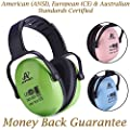 Earmuffs For Kids: Amplim Best Noise Reduction Passive Baby Headphones / Ear Muffs for Infants, Toddlers & Teens. Child Sound Hearing Protection at Concerts & Sporting Events. New Aug 2017