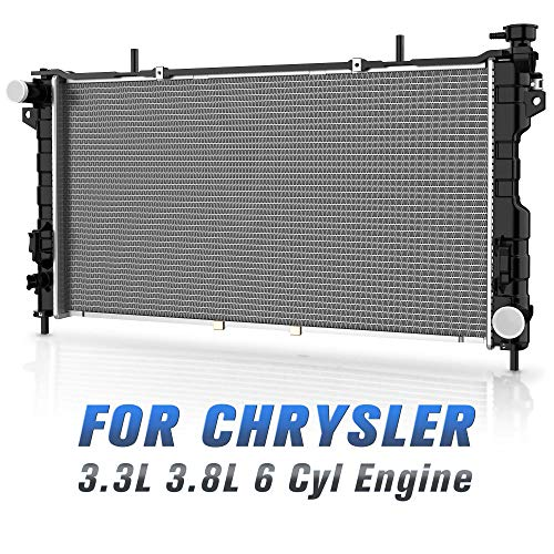 Radiator Voyager Chrysler - Complete Radiator for 2001-2004 Chrysler Town Country Plymouth Voyager, for 2001-2004 Dodge Caravan Grand Caravan 3.3L 3.8L 6 Cyl DWRD1011
