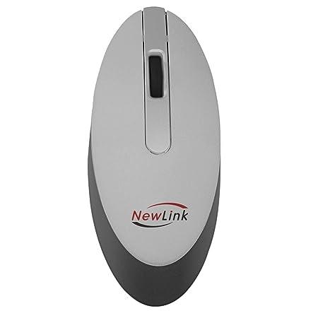 Mouse Wireless Óptico Led 1000 Dpis Style Prata Mo101 Newlink