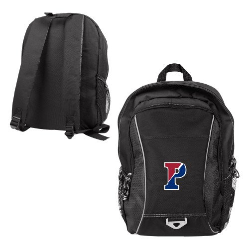 Penn Atlas Black Computer Backpack 'Split P' (Penn Backpack)