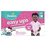 Pampers Easy Ups Disposable Training Underwear Girls 4T-5T (Size 6), 120 Count (One Month Supply) -- Packaging May Vary