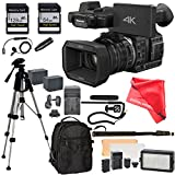 Panasonic HC-X1000 Camcorder, 128GB SD Memory card, Full Size Tripod, Flash LED, Backpack, 2 Batteries, Charger