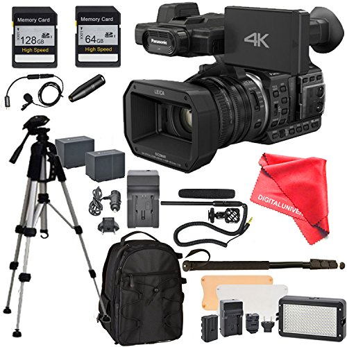 Panasonic HC-X1000 Camcorder, 128GB SD Memory card, Full Size Tripod, Flash LED, Backpack, 2 Batteries, Charger by DigitalUniverse