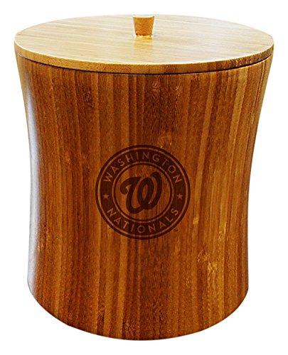 MLB Washington Nationals Unisex MLB Bamboo Ice Bucket, Natural, 8
