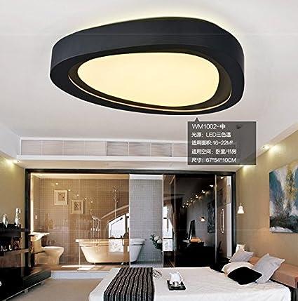 Las modernas ideas simples LED lámpara de techo estudio ...
