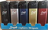 Scripto Electronic Lighters - Pack of 50 with Stand Asst Colors.