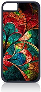 Stained Glass Flower Petals For SamSung Galaxy S5 Phone Case Cover Hard DOUBLE LAYER PROTECTION black case - compatible with For SamSung Galaxy S5 Phone Case Cover