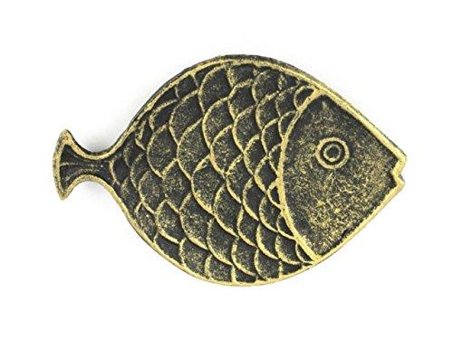 Hampton Nautical  Cast Iron Fish Decorative Plate, 8