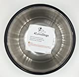 4LoveDogs-Stainless-Steel-Dog-Bowls-32-Oz-Set-of-2