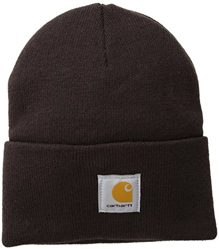 Carhartt Men's Acrylic Watch Hat A18, Dark Brown, One Size