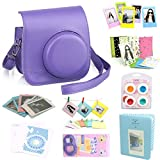CAIUL 9 in 1 Fujifilm Instax Mini 8 Accessories Bundles(Purple Mini 8 Case/Mini Album/selfie Lens/4 colors Close-Up Lens/3 inch Frame/Wall Hang Frame/Film Sticker/Film Protective Pouch/Camera Sticker)