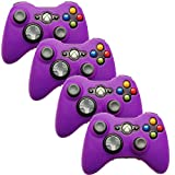 xbox 360 remote shell - HDE Xbox 360 Silicone Wireless Controller Skin Protective Rubber Case Cover for Microsoft Xbox 360 Game Pad (4 Pack) (Purple)